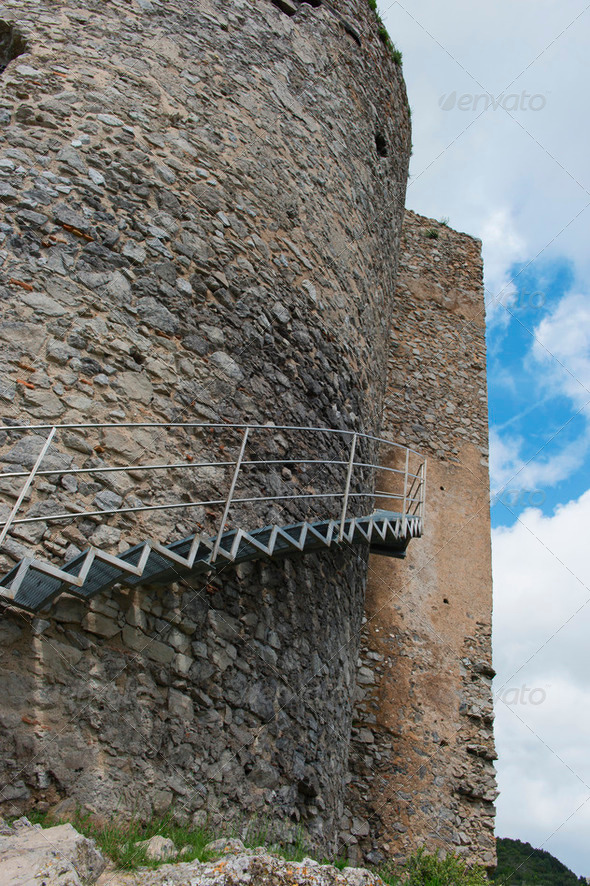 Castle Arechi - Bastiglia - Stock Photo - Images