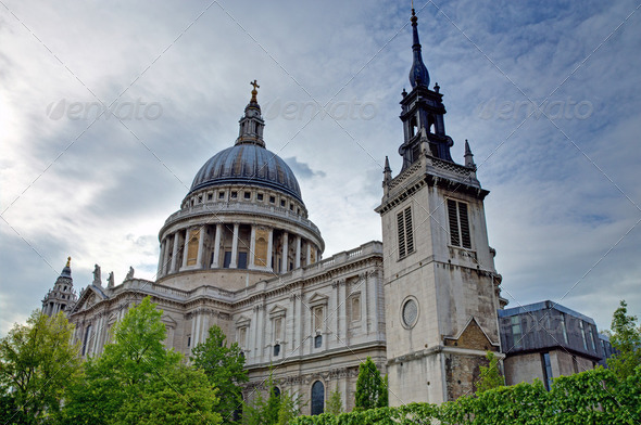 St. Pauls Cathedral in London - Stock Photo - Images