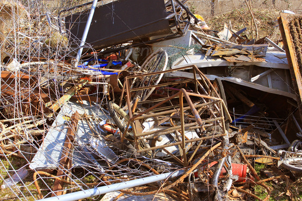 pollution and illegal dumping - Stock Photo - Images