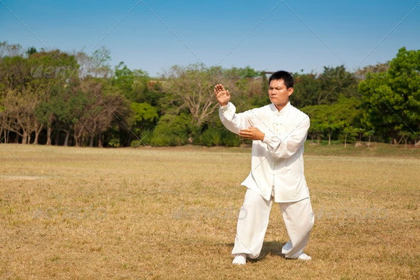 kung fu man - Stock Photo - Images