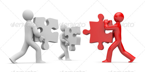 Partnership or leadership - Stock Photo - Images