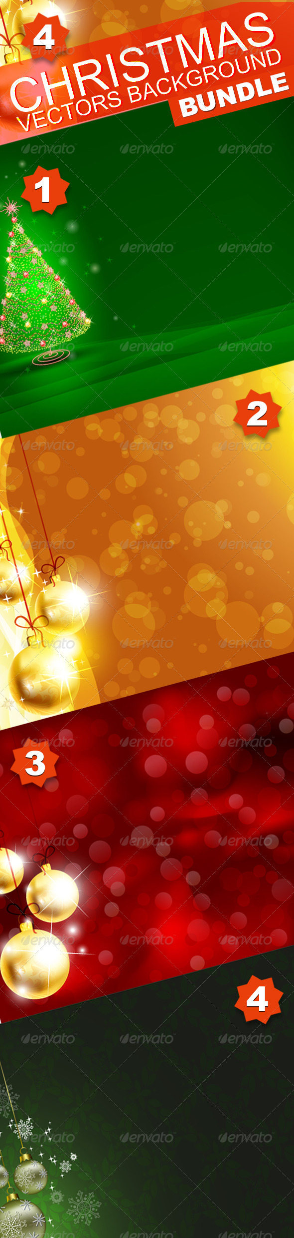 GraphicRiver Christmas background Bundle 3353986