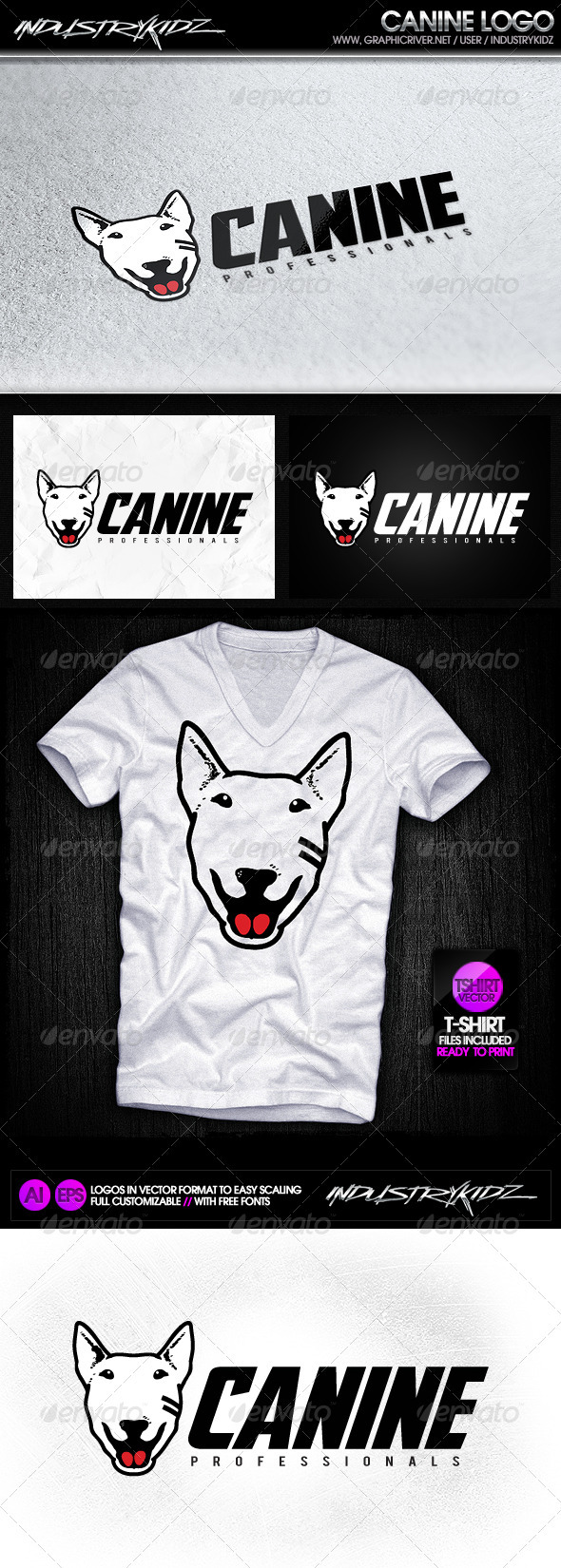 Canine logo template - Animals Logo Templates