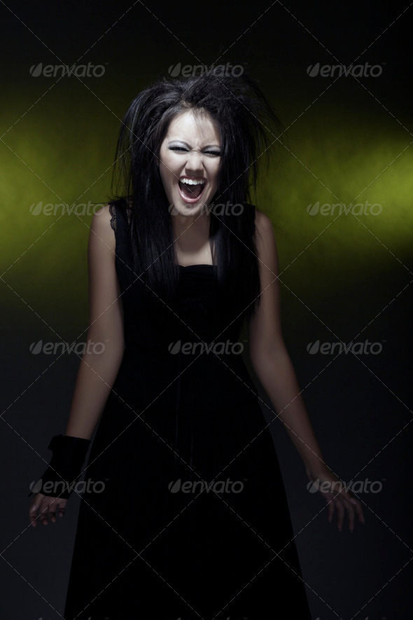 Screaming witch - Stock Photo - Images