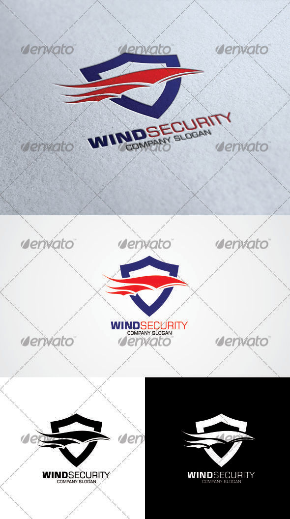 GraphicRiver Wind Security Logo Template 3354014