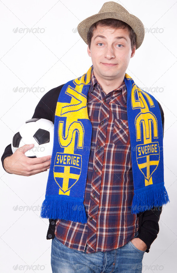 Sweden fan - Stock Photo - Images
