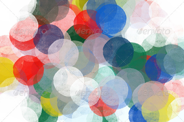 abstract circles pattern illustration - Stock Photo - Images
