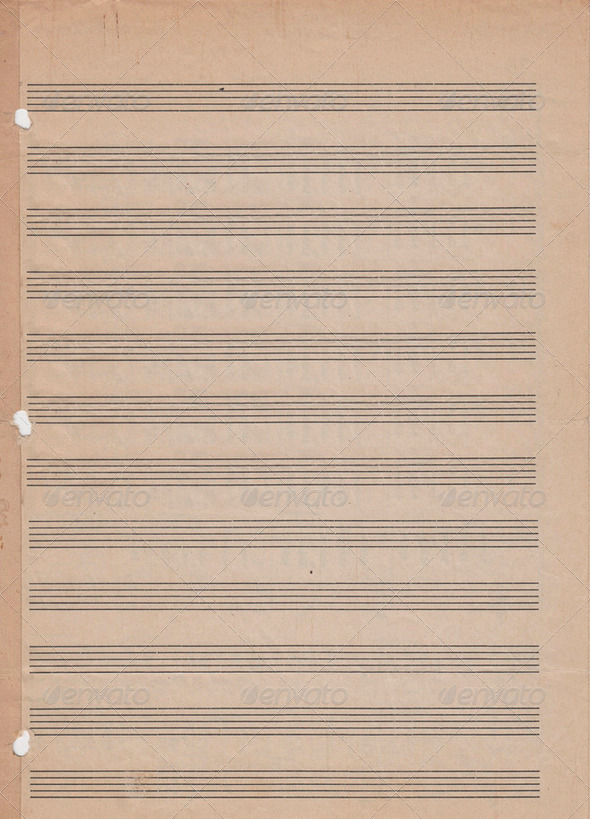 Blank vintage sheet music - Stock Photo - Images