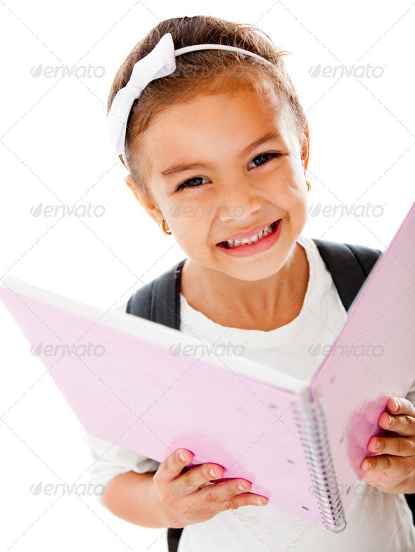 Primary school girl - Stock Photo - Images