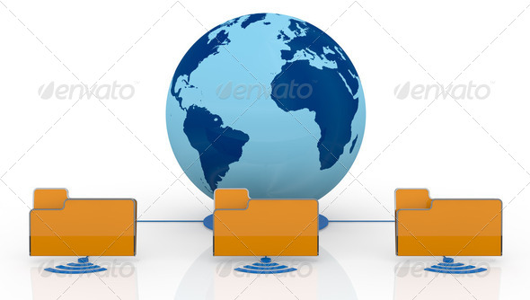 concept of global network - Stock Photo - Images