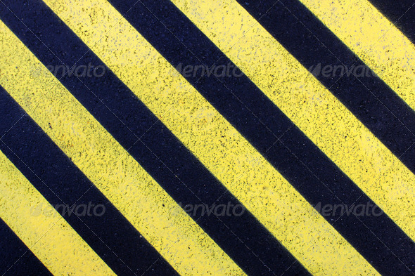 Yellow parking marks - Stock Photo - Images
