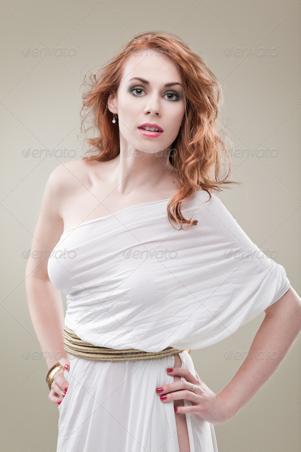 greece woman white - Stock Photo - Images