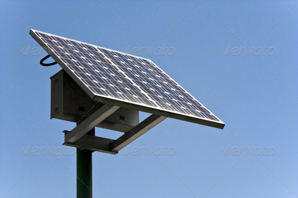 Solar energy panel - Stock Photo - Images