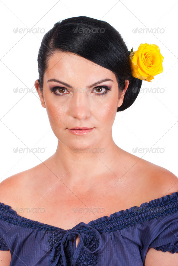 Model with natural makeup - Stock Photo - Images
