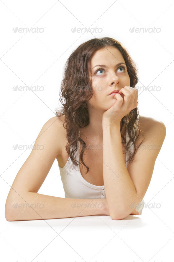 Thinking Girl - Stock Photo - Images