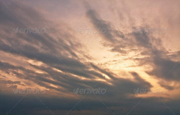 Storm dark clouds - Stock Photo - Images