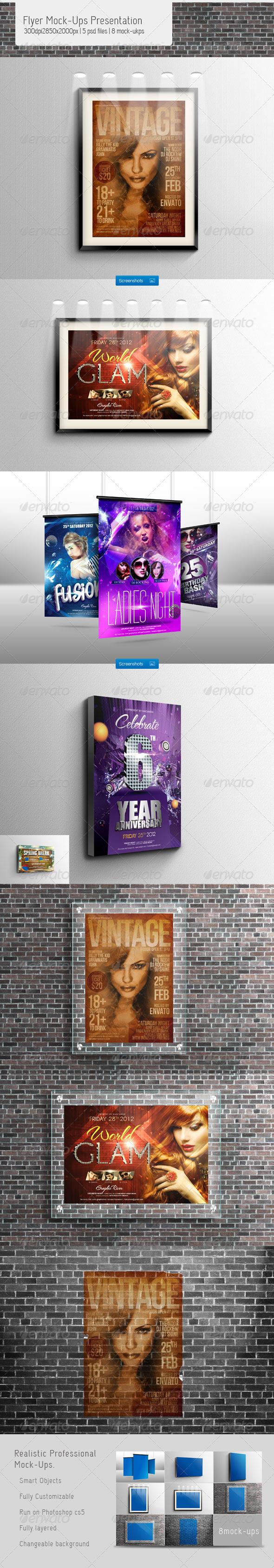 GraphicRiver Flyer Mock-Ups Presentation 3354218