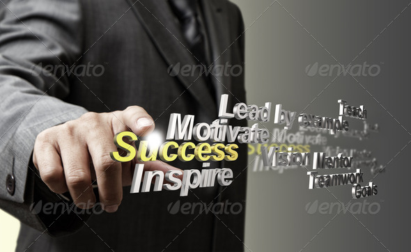 3d metallic success diagram as concept - Stock Photo - Images