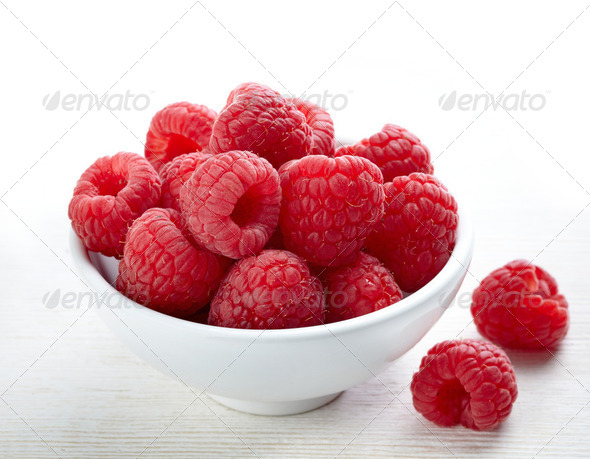 fresh raspberries - Stock Photo - Images