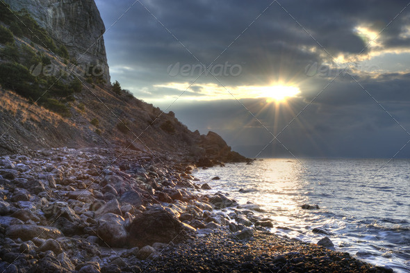 The night sea - Stock Photo - Images