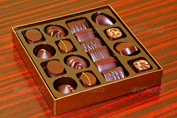 Praline box - Stock Photo - Images