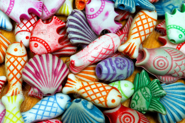 Beads sea life - Stock Photo - Images