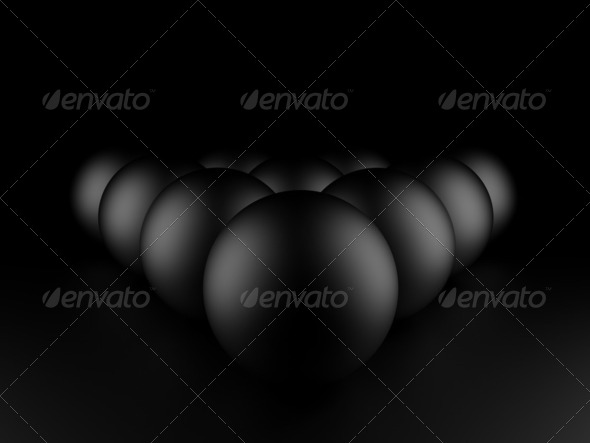 Black balls - Stock Photo - Images