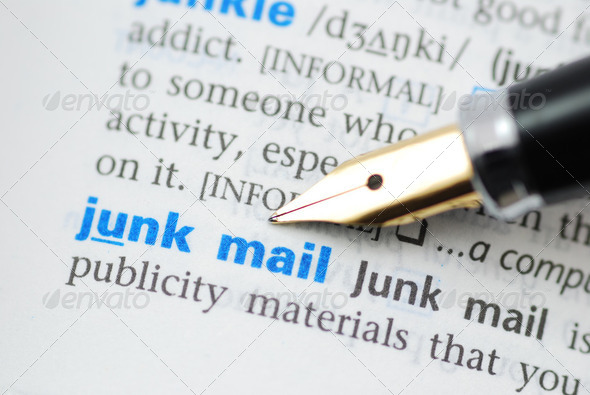 Junk Mail - Dictionary Series  - Stock Photo - Images
