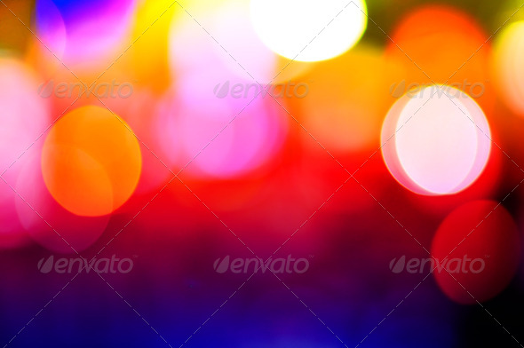 Color Bokeh against a dark background - Stock Photo - Images