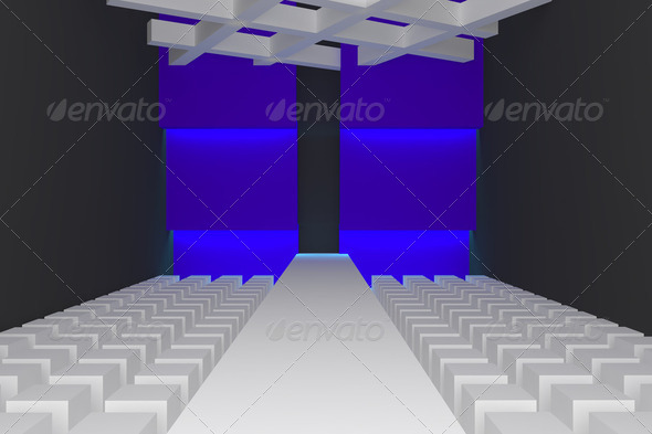 Empty fashion runway - Stock Photo - Images
