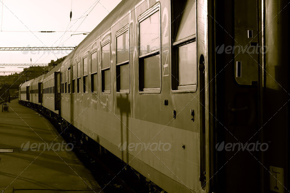 Train Cars at the Station Ready to Leave - Stock Photo - Images