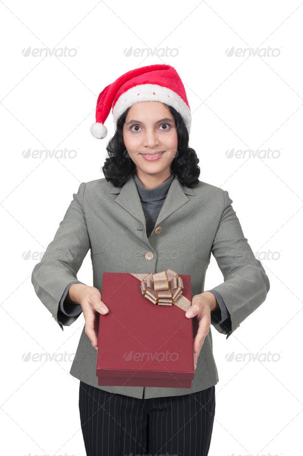 Get Christmas Present - Stock Photo - Images