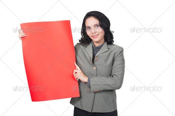Show Blank Red Paper - Stock Photo - Images
