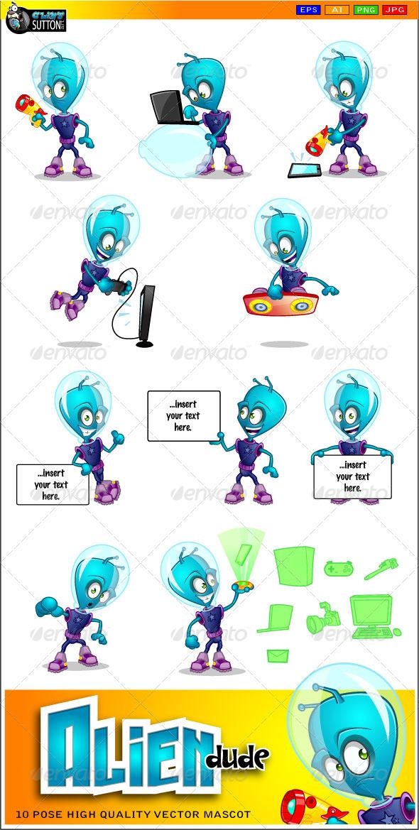 GraphicRiver Alien Dude Mascot 3354550