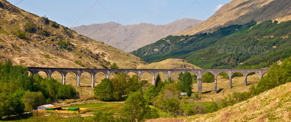 Glenfinnan Viaduct - Stock Photo - Images