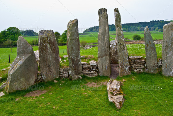 Cairnholy Stones - Stock Photo - Images