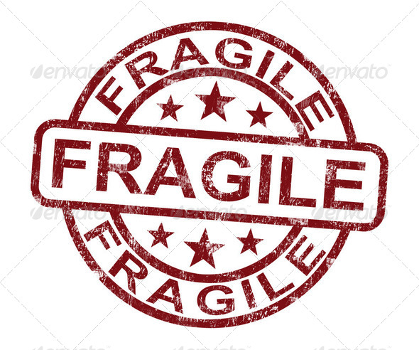 Fragile Stamp Shows Breakable Products For Delivery - Stock Photo - Images