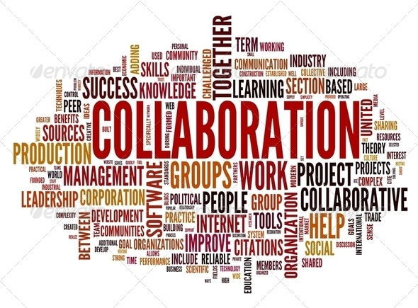 PhotoDune Collaboration concept in word tag cloud 2478805
