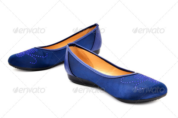 blue  shoes - Stock Photo - Images