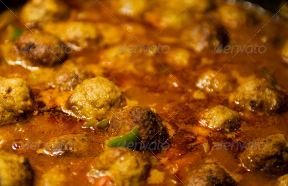 Meatballs in a sauce - Stock Photo - Images