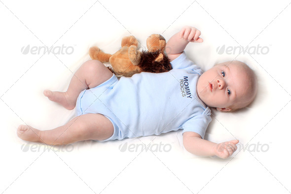 Little newborn baby boy - Stock Photo - Images