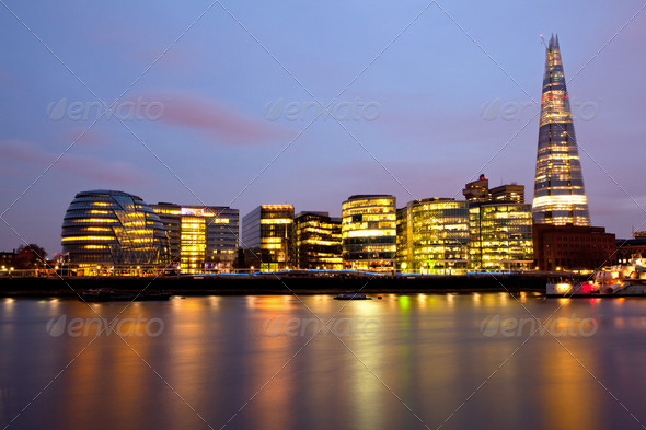 London City Hall Skylines - Stock Photo - Images