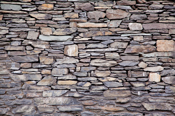 Stone Modern Brick Wall - Stock Photo - Images