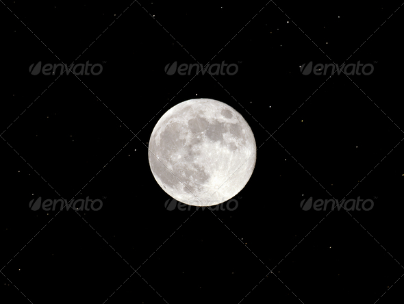 Full moon - Stock Photo - Images