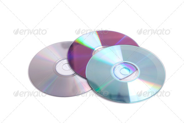 Scratched cd&#x27;s - Stock Photo - Images