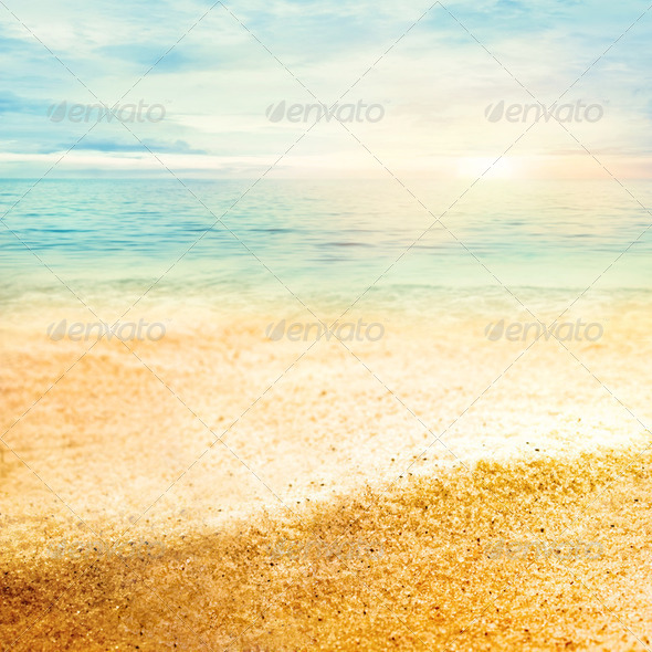 Sand beach - Stock Photo - Images