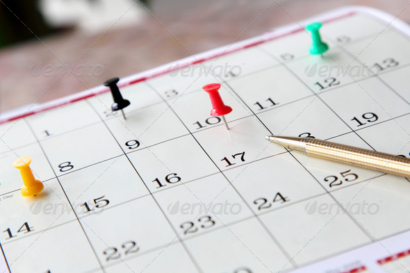 Closeup of Calendar Page - Stock Photo - Images