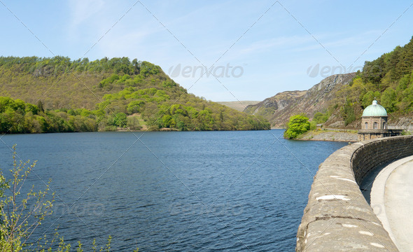 Garreg Ddu reservoir, Elan Valley, Powys Wales UK. - Stock Photo - Images