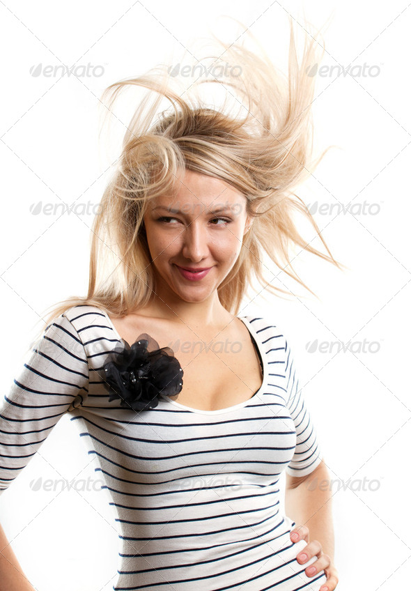 Woman Looking on Camera - Stock Photo - Images