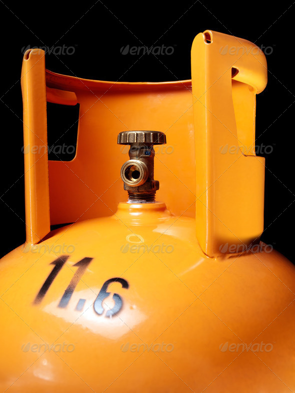 Gas bottle - Stock Photo - Images